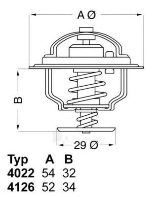WAHLER termostatas, aušinimo skystis 4022.82D Paveikslėlis 1 iš 1 30119601736