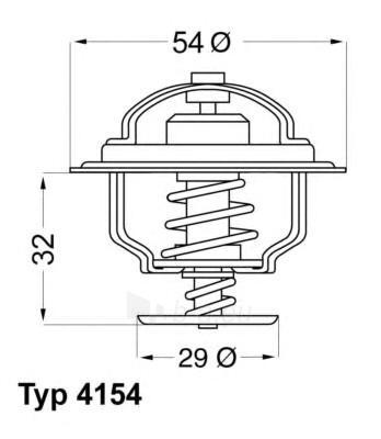WAHLER termostatas, aušinimo skystis 4154.82D Paveikslėlis 1 iš 1 30119601773
