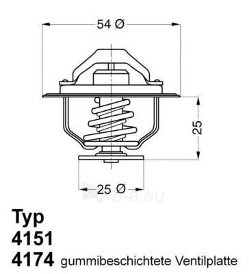 WAHLER termostatas, aušinimo skystis 4174.82D Paveikslėlis 1 iš 1 30119601779