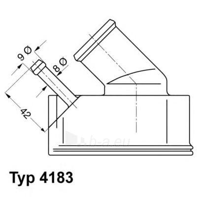 WAHLER termostatas, aušinimo skystis 4183.92D Paveikslėlis 1 iš 1 30119601785