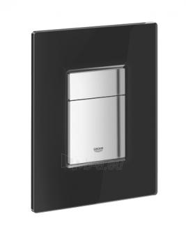 WC klavišas GROHE Skate Cosmopolitan juodas stiklas Paveikslėlis 1 iš 1 270790200046