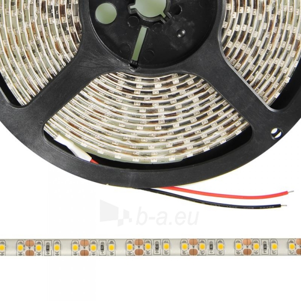 WE LED juosta 5m | 120vnt/m | 3528 | 9.6W/m | šilta balta | IP65 | be jungties Paveikslėlis 3 iš 4 224126000289