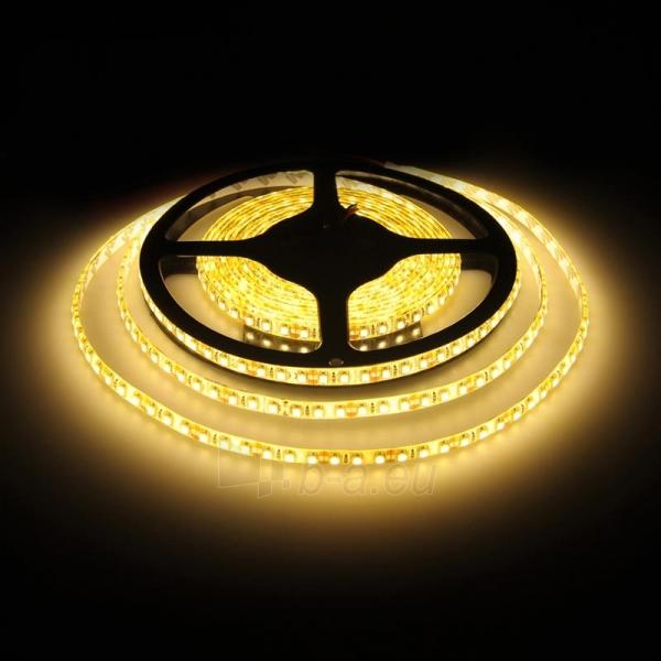 WE LED juosta 5m | 120vnt/m | 3528 | 9.6W/m | šilta balta | IP65 | be jungties Paveikslėlis 4 iš 4 224126000289