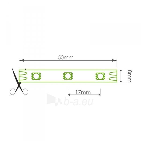 WE LED juosta 5m | 60vnt/m | 3528 | 4.8W/m | 6000K šalta balta | be jungties Paveikslėlis 3 iš 4 310820049436