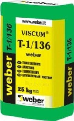 Weber T-1/136 plonasluoksnis cementinis tinkas 25kg Paveikslėlis 1 iš 1 236760200026