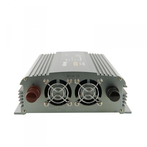 Whitenergy Inverteris AC/DC 12V (automobilis) 230V, 1000W, 2 lizdai Paveikslėlis 2 iš 3 250256401140