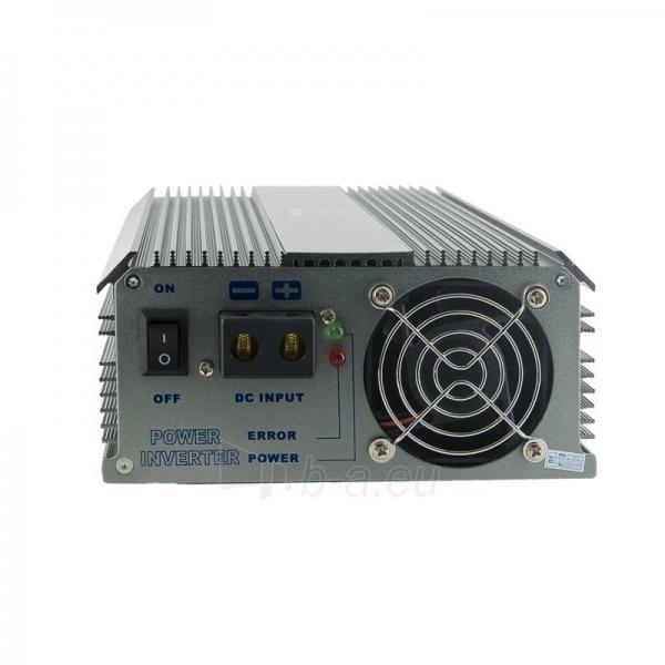 Whitenergy Inverteris AC/DC 12V (automobilis) 230V, 1500W, 2 lizdai Paveikslėlis 2 iš 5 250256401142