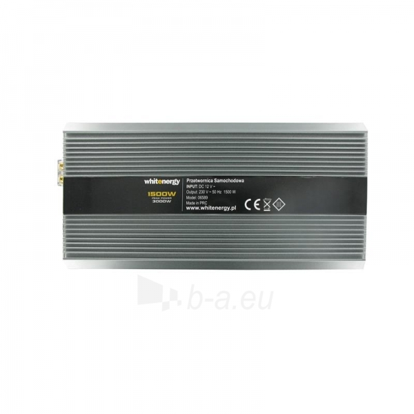 Whitenergy Inverteris AC/DC 12V (automobilis) 230V, 1500W, 2 lizdai Paveikslėlis 3 iš 5 250256401142
