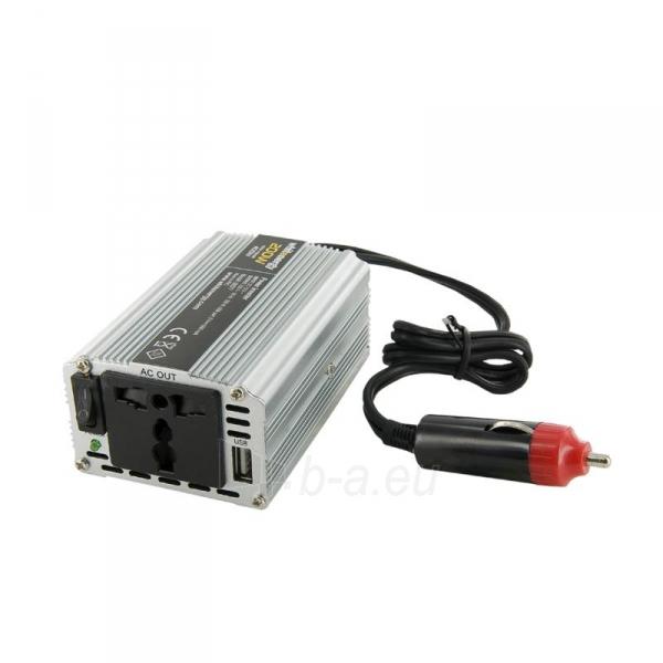 Whitenergy Inverteris AC/DC 12V (automobilis) 230V, 200W USB jungtis Paveikslėlis 1 iš 4 250256401145