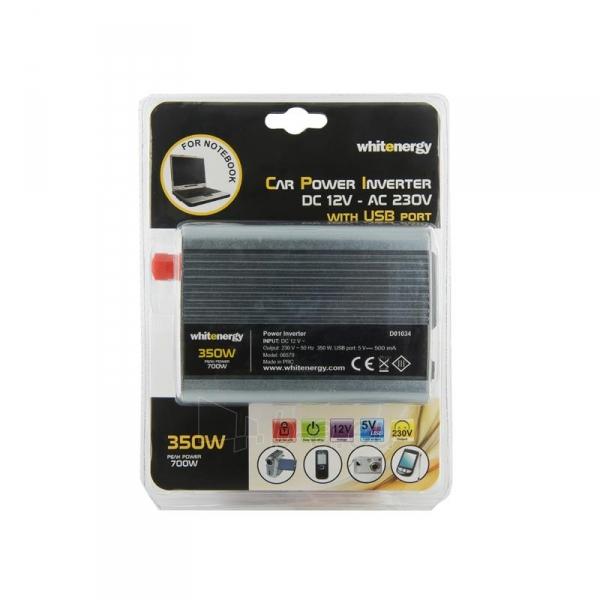 Whitenergy Inverteris AC/DC 12V (automobilis) 230V, 350W USB jungtis Paveikslėlis 3 iš 4 250256401146