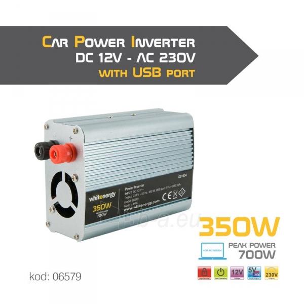 Whitenergy Inverteris AC/DC 12V (automobilis) 230V, 350W USB jungtis Paveikslėlis 4 iš 4 250256401146