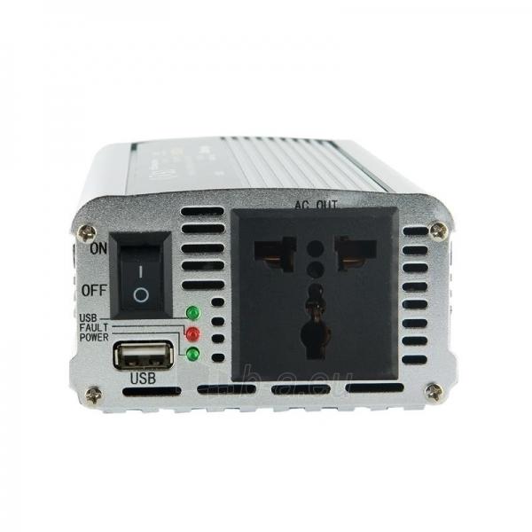 Whitenergy Inverteris AC/DC 24V (automobilis) 230V, 400W USB jungtis Paveikslėlis 2 iš 4 250256401155