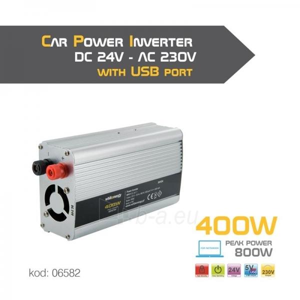 Whitenergy Inverteris AC/DC 24V (automobilis) 230V, 400W USB jungtis Paveikslėlis 4 iš 4 250256401155