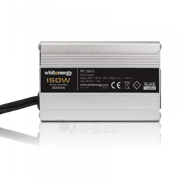 Whitenergy Inverteris DC/AC 24V (automobilis) 230V, 150W USB jungtis Paveikslėlis 1 iš 5 250256401316