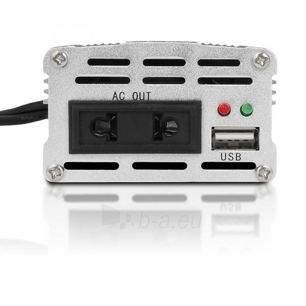 Whitenergy Inverteris DC/AC 24V (automobilis) 230V, 150W USB jungtis Paveikslėlis 4 iš 5 250256401316