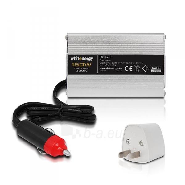 Whitenergy Inverteris DC/AC 24V (automobilis) 230V, 150W USB jungtis Paveikslėlis 5 iš 5 250256401316