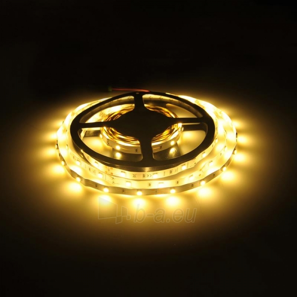 Whitenergy LED juosta 5m | 30vnt/m | 5050 | 7.2W/m | 12V DC | 3000K šilta balta Paveikslėlis 4 iš 4 310820049429