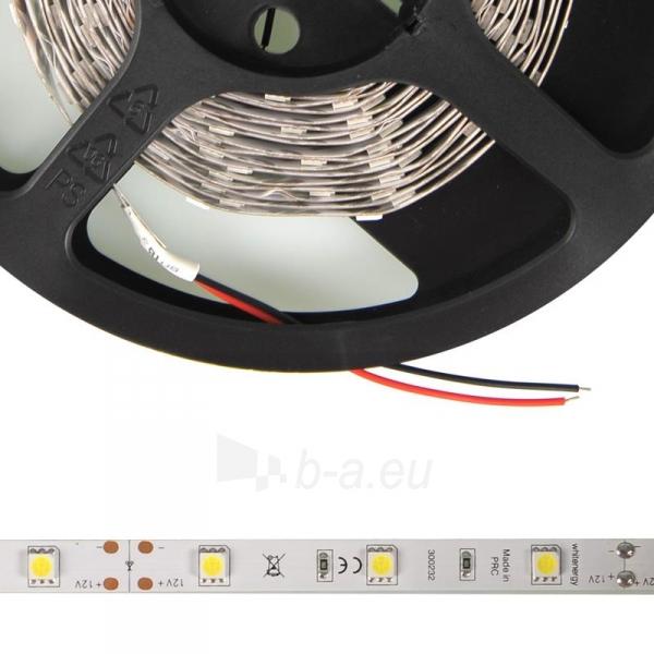 Whitenergy LED juosta 5m   30vnt/m   5050   7.2W/m   12V DC   6500K šalta balta Paveikslėlis 3 iš 4 310820049425