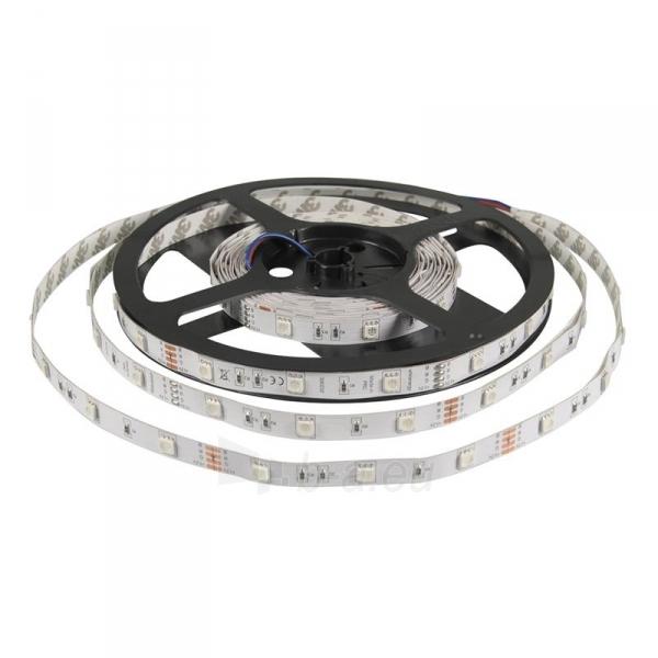 Whitenergy LED juosta 5m | 30vnt/m | 5050 | 7.2W/m | 12V DC | RGB | be jungties Paveikslėlis 2 iš 7 310820049438