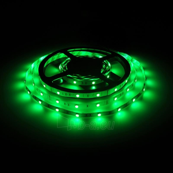 Whitenergy LED juosta 5m   30vnt/m   5050   7.2W/m   12V DC   RGB   be jungties Paveikslėlis 6 iš 7 310820049438