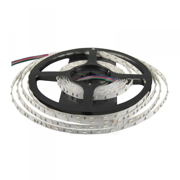 Whitenergy LED juosta 5m | 3528 | 4.8W/m | 12V DC | RGB Paveikslėlis 1 iš 10 310820049442