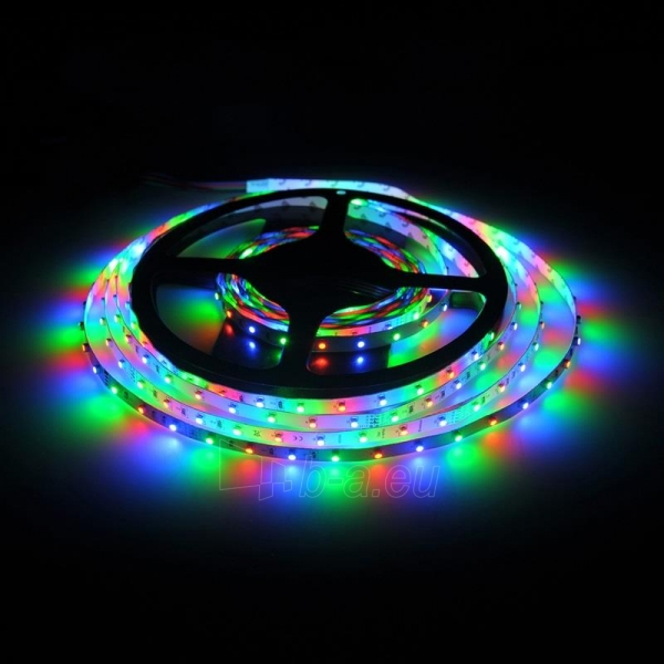 Whitenergy LED juosta 5m | 3528 | 4.8W/m | 12V DC | RGB Paveikslėlis 4 iš 10 310820049442