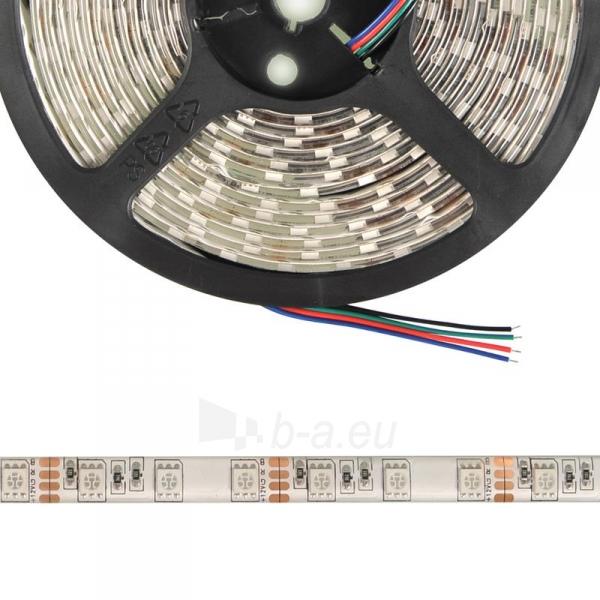Whitenergy LED juosta atsapri vandeniui 5m | 60vnt/m| 5050| 14.4W/m| 12V DC| RGB Paveikslėlis 3 iš 7 310820049434