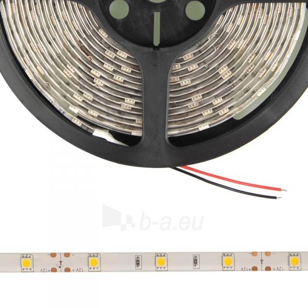 Whitenergy LED juosta atspari vandeniui 5m | 30vnt/m| 5050| 7.2W/m| šilta balta Paveikslėlis 3 iš 4 310820049433