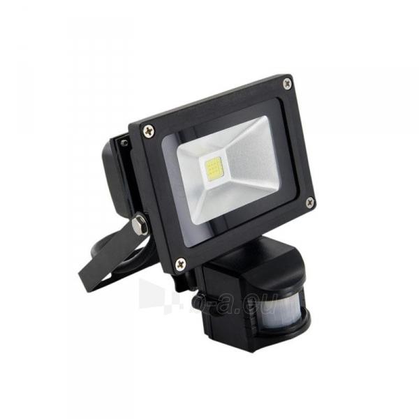 Whitenergy LED Lauko šviestuvas 10W | 6000K | 1000lm | IP66 | judesio jutiklis Paveikslėlis 1 iš 5 310820049319
