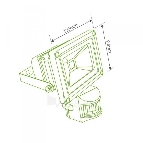Whitenergy LED Lauko šviestuvas 10W | 6000K | 1000lm | IP66 | judesio jutiklis Paveikslėlis 4 iš 5 310820049319
