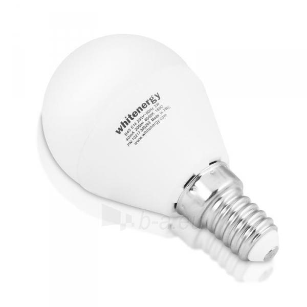 Whitenergy LED lemputė | 7xSMD2835| B45 | E14 | 3W | 230V | šalta balta | pienas Paveikslėlis 1 iš 6 310820049366