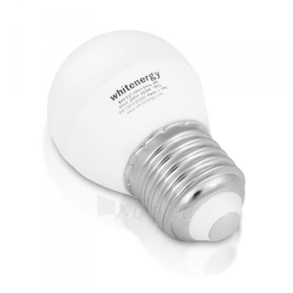 Whitenergy LED lemputė | 7xSMD2835| B45 | E27 | 3W | 230V | šalta balta | pienas Paveikslėlis 1 iš 6 310820049364
