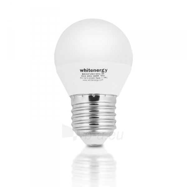 Whitenergy LED lemputė | 7xSMD2835| B45 | E27 | 3W | 230V | šalta balta | pienas Paveikslėlis 2 iš 6 310820049364
