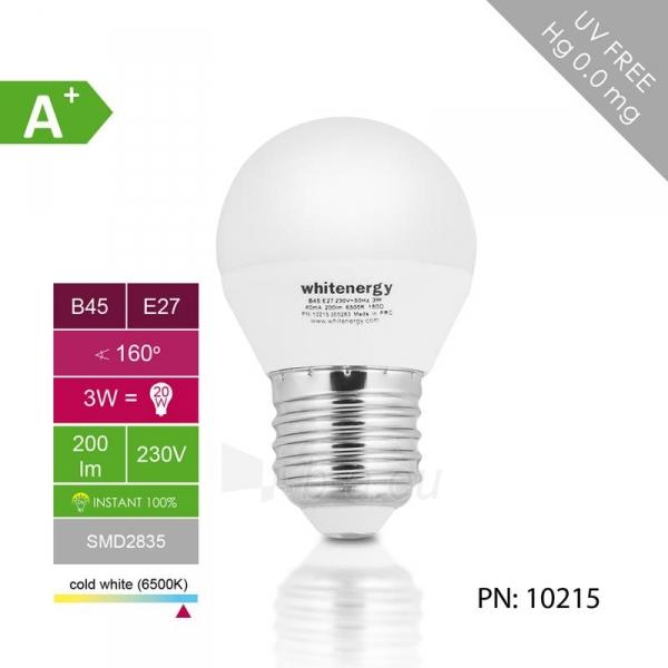 Whitenergy LED lemputė | 7xSMD2835| B45 | E27 | 3W | 230V | šalta balta | pienas Paveikslėlis 4 iš 6 310820049364