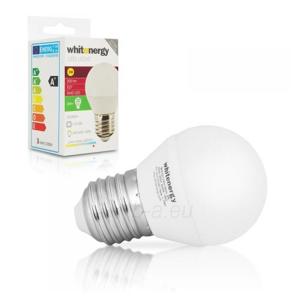 Whitenergy LED lemputė | 7xSMD2835| B45 | E27 | 3W | 230V | šalta balta | pienas Paveikslėlis 5 iš 6 310820049364