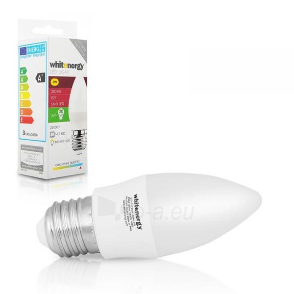 Whitenergy LED lemputė | 7xSMD2835| C37 | E27 | 3W | 230V | šalta balta | pienas Paveikslėlis 5 iš 6 310820049361