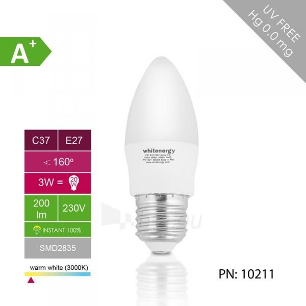 Whitenergy LED lemputė | 7xSMD2835| C37 | E27 | 3W | 230V | šilta balta | pienas Paveikslėlis 4 iš 6 310820049360