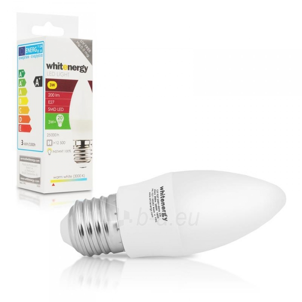 Whitenergy LED lemputė | 7xSMD2835| C37 | E27 | 3W | 230V | šilta balta | pienas Paveikslėlis 5 iš 6 310820049360