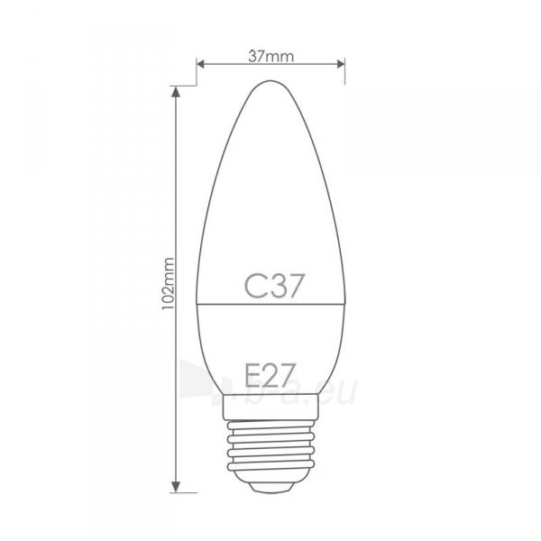 Whitenergy LED lemputė | 7xSMD2835| C37 | E27 | 3W | 230V | šilta balta | pienas Paveikslėlis 6 iš 6 310820049360