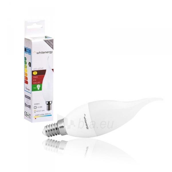 Whitenergy LED lemputė   8xSMD2835  C37L  E14   7W   230V   šilta balta   pienas Paveikslėlis 4 iš 4 310820103021