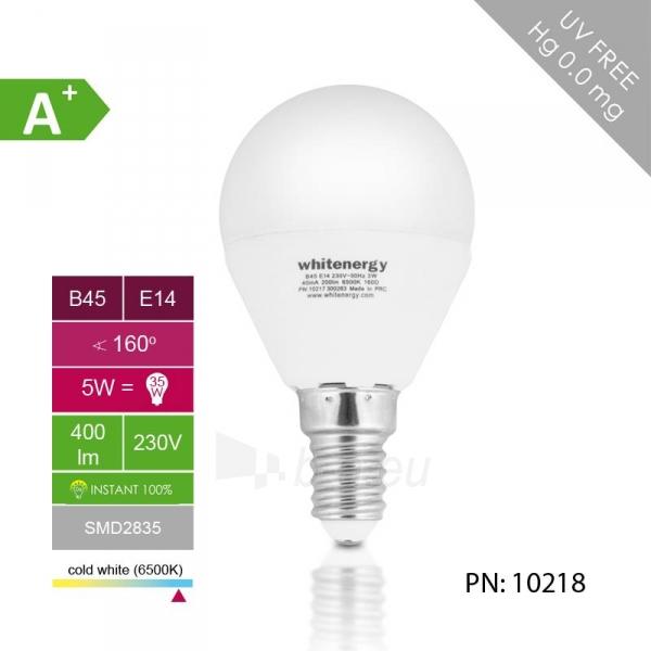 Whitenergy LED lemputė |10xSMD2835| B45 | E14 | 5W | 230V | šalta balta | pienas Paveikslėlis 4 iš 6 310820049367
