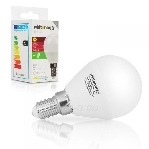 Whitenergy LED lemputė |10xSMD2835| B45 | E14 | 5W | 230V | šalta balta | pienas Paveikslėlis 5 iš 6 310820049367