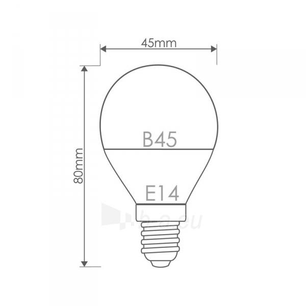 Whitenergy LED lemputė |10xSMD2835| B45 | E14 | 5W | 230V | šalta balta | pienas Paveikslėlis 6 iš 6 310820049367