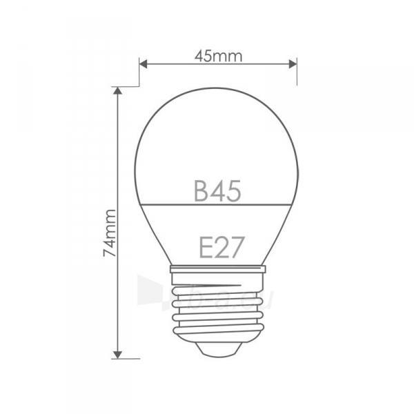 Whitenergy LED lemputė |10xSMD2835| B45 | E27 | 5W | 230V | šilta balta | pienas Paveikslėlis 6 iš 6 310820049371