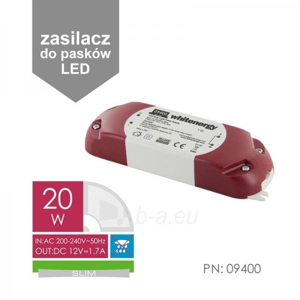Whitenergy LED maitinimo šaltinis Slim 230V|20W|12V Paveikslėlis 3 iš 4 224126000340