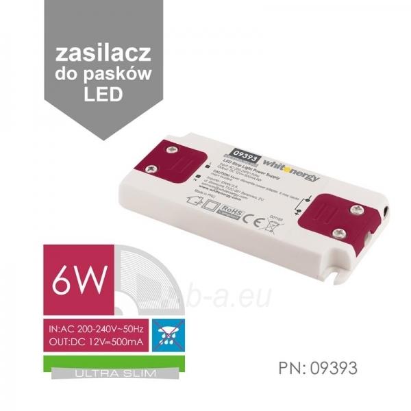 Whitenergy LED maitinimo šaltinis Ultra Slim 230V| 6W | 12V| vidinis Paveikslėlis 3 iš 4 224126000343