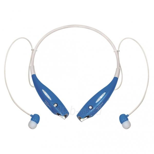 X-Zero Sports Wireless Neckband Earphones, Bluetooth 4.0, 10m X-H813BB blue Paveikslėlis 1 iš 2 310820002302