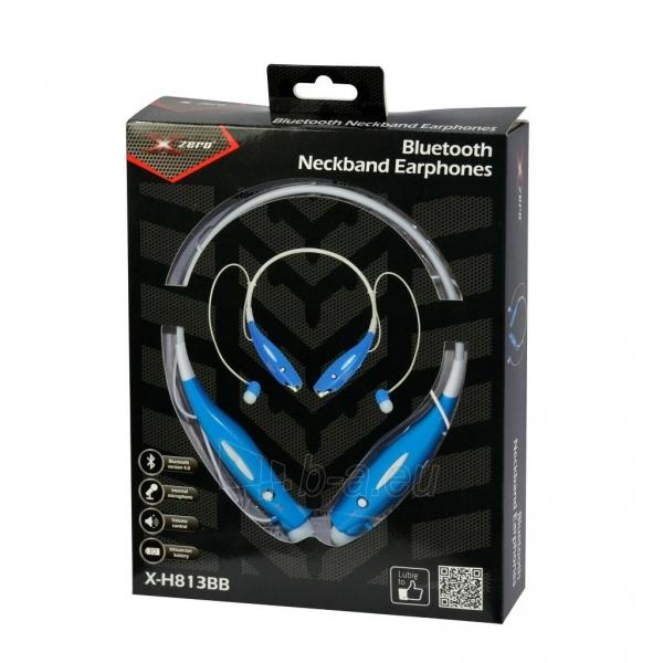 X-Zero Sports Wireless Neckband Earphones, Bluetooth 4.0, 10m X-H813BB blue Paveikslėlis 2 iš 2 310820002302