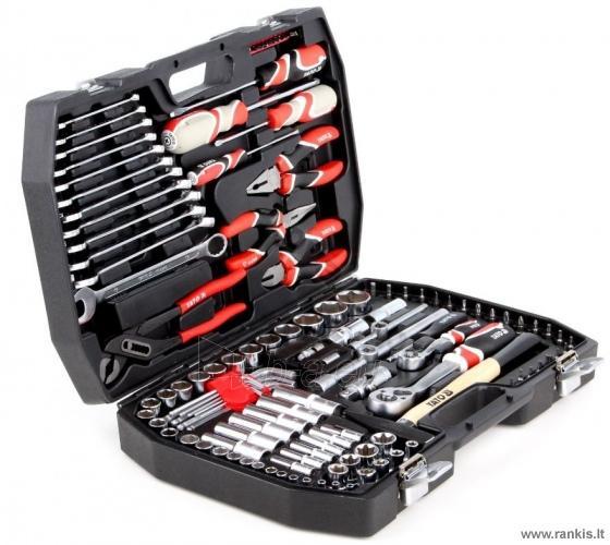 YATO 122 dalių Galvučių, replių, raktų ir kitų įrankių XXL komplektas Paveikslėlis 1 iš 2 310820017637