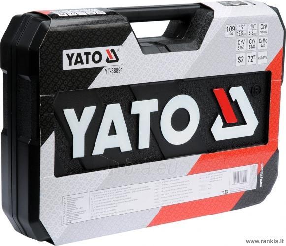 YATO galvučių, replių, raktų ir kitų įrankių XXL komplektas 109 dalių Paveikslėlis 3 iš 4 310820017766